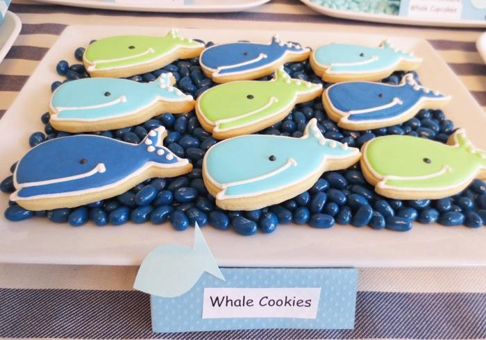 Mesa de dulces inspiración mar