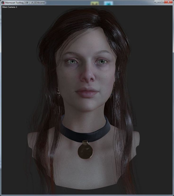 Real time character test , Mariya Kapustyan on ArtStation at https://www.artstation.com/artwork/K4wXX