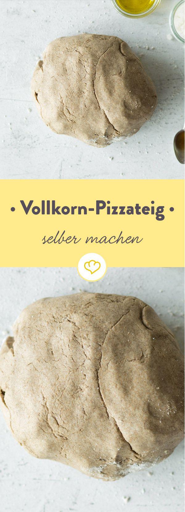 Selbstgemachter Vollkorn-Pizzateig mit Trockenhefe
