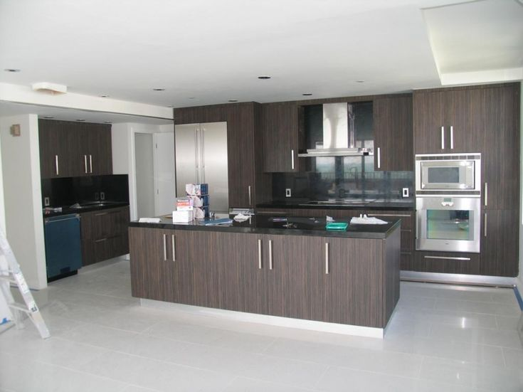 Italian Style Kitchen Cabinets for Modern Kitchen Look: Brown ...