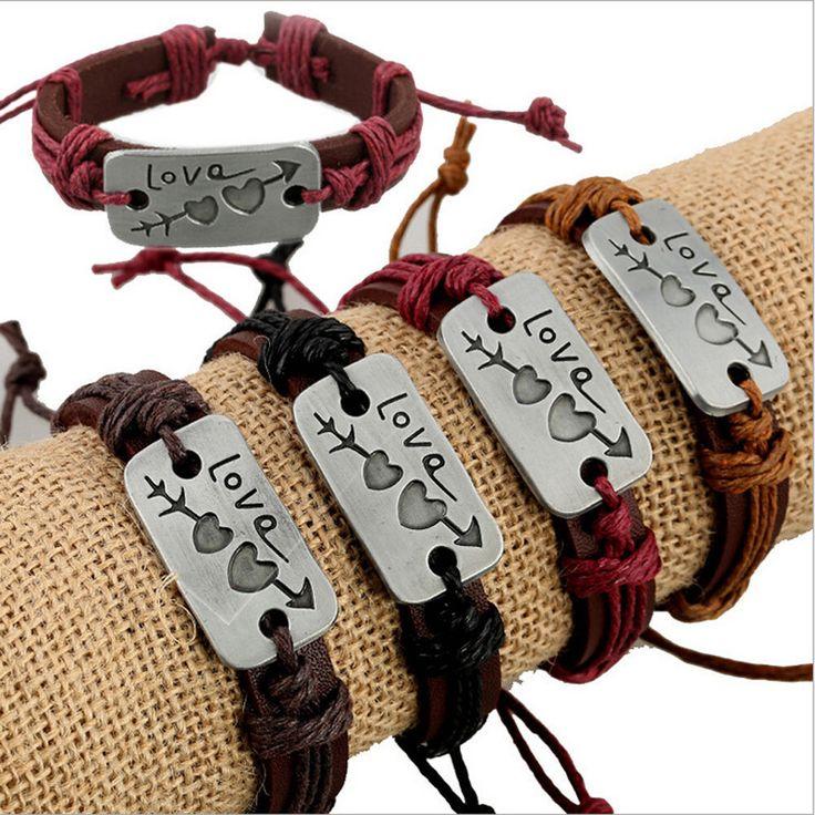 Мода унисекс регулируемый металлический любовник кожаный браслет манжеты браслеты ювелирные изделия | Украшения и часы, Модная бижутерия, Браслеты | eBay!
