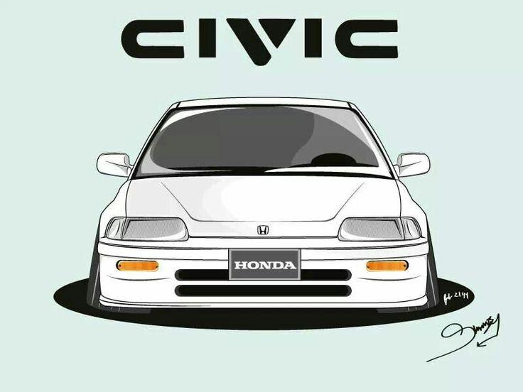 Honda civic Ef. Created by Simon ly (ninjastatus)