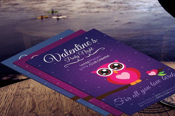Valentine's Day Cute Party Flyer by Made by Mancie on @creativemarket