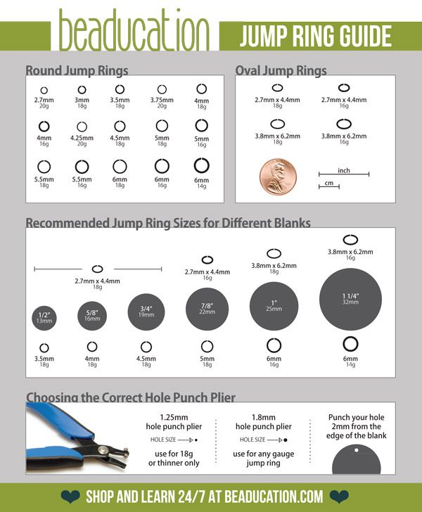 Great jump ring guide for all those metal flat tags.