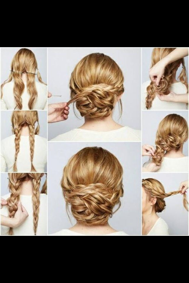 Braided Hairstyles. Plz Like When Saving.=]Step By Step! #tipit