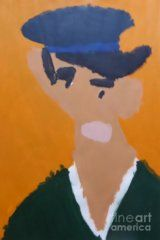 Poster featuring the painting Young Man With A Hat 2014 - After Vincent Van Gogh by Patrick Francis