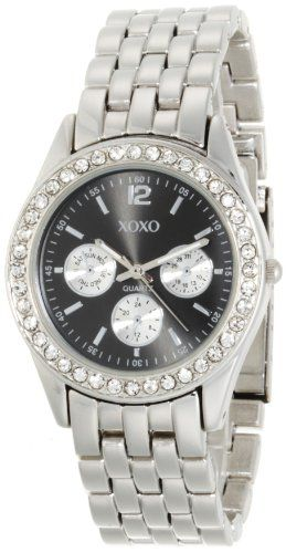 Shop XOXO Womens XO5208 Black Dial Silver-tone Bracelet Watch online at lowest price in india and purchase various collections of Casual Watches in XOXO brand at grabmore.in the best online shopping store in india