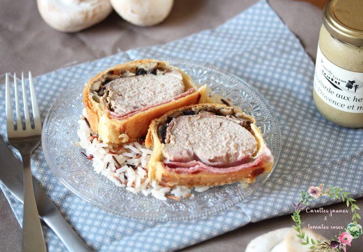 | Filet mignon en croûte, champignons, bacon fumé and moutarde au miel…