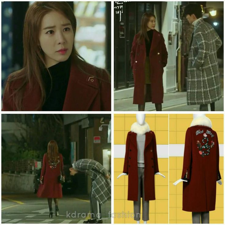 """829 lượt thích, 10 bình luận - @kdrama_fashion trên Instagram: """"Yoo In Na wore DEWL Embroidered Back Double Breasted Coat Burgundy ₩699,000 in Goblin Drama Episode…"""""""