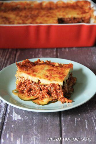 Diétás, tészta nélküli cukkini lasagne
