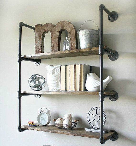 Industrial Wall Unit with 3 shelves. Urban by HenryLewisHome