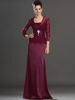 Robi - corte recto manga de longitud 3 madre del vestido de la novia de  con broche - EUR €132,33