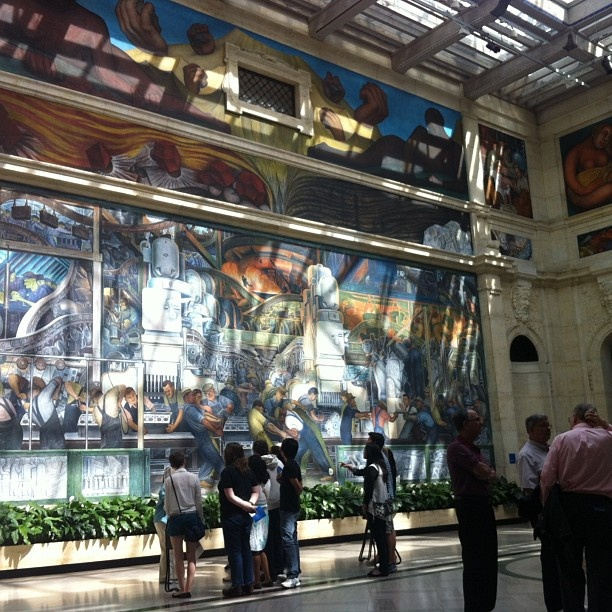 Diego rivera ford factory fresco art institute of for Detroit mural factory
