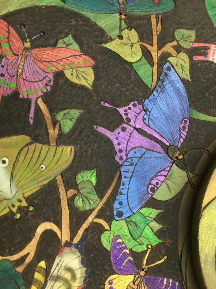 Butterfly detail of sushi tray lid