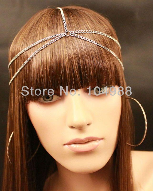 Стиль BY-128 мода европейский уникальный дизайн стиль новый платье для выпускного бала аксессуары молодежи BOHO золото / серебро цепочка на голову волосы ювелирных изделий