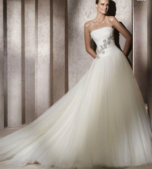buy 2013 strapless a line wedding gonw with beaded ruching organza train online cheap prices top wedding dress designersdesigner