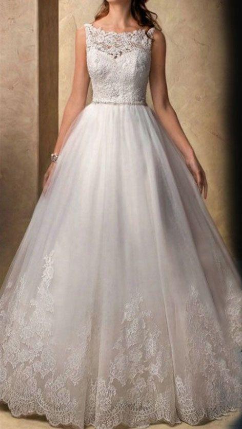 Lace Wedding Dress,White Wedding Dress,Empire Waist Wedding Dress,Lace Bridal Dress on Etsy, $580.00