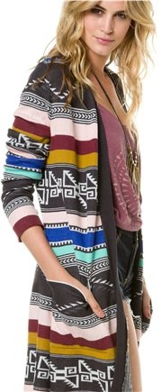 Long CARDIGAN SWEATER ........this is so cute in Aztec print and colors