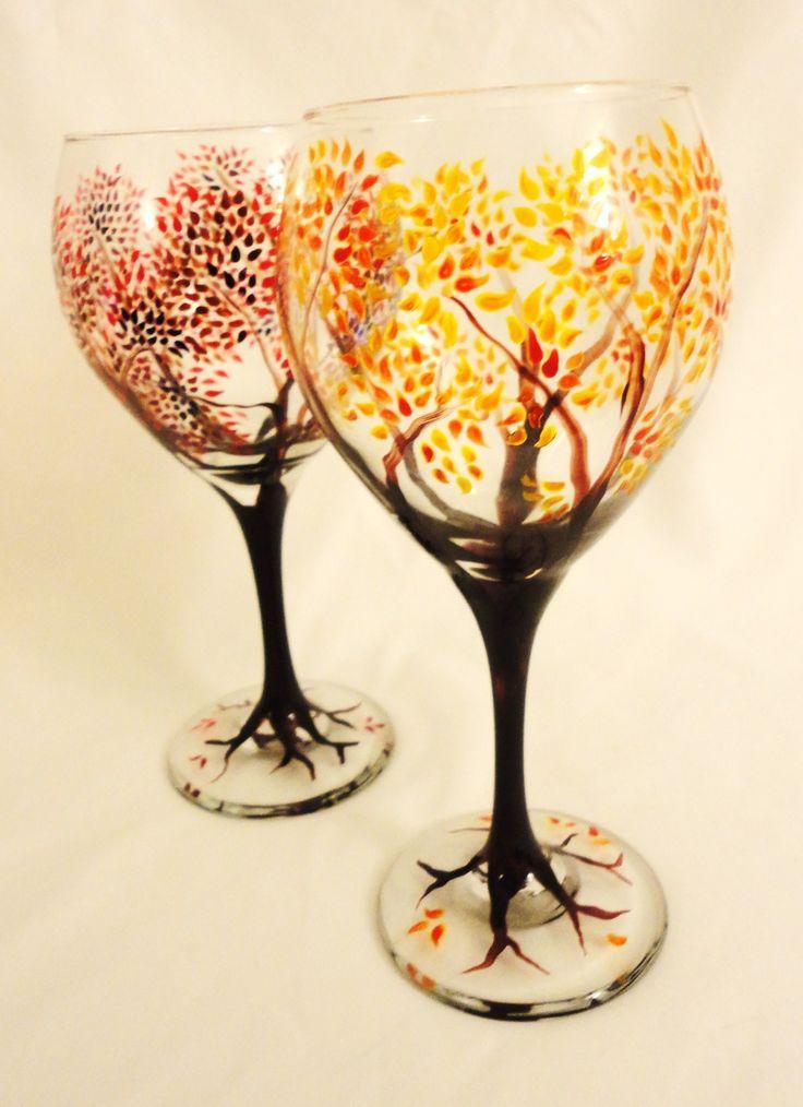 1000 ideas about sharpie wine glasses on pinterest wine for Christmas painted wine glasses pinterest