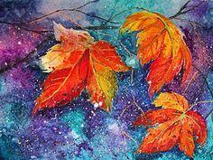 Осенний мастер-класс: акварель по-мокрому - Avonafets - Ярмарка Мастеров http://www.livemaster.ru/topic/2026515-osennij-master-klass-akvarel-po-mokromu