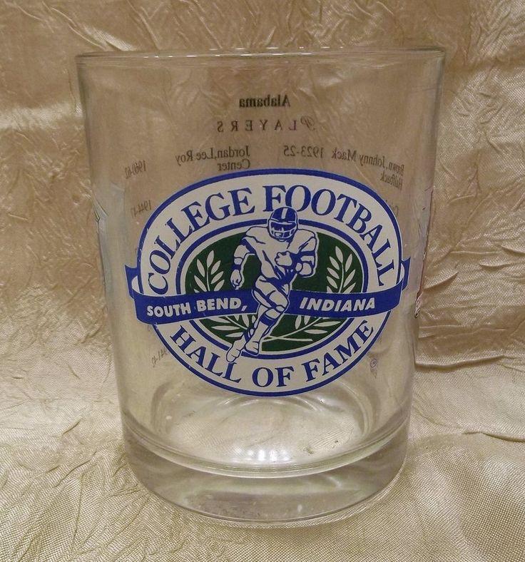 University of Alabama College Football Hall Of Fame Rock Glass NCAA #AlabamaCrimsonTide