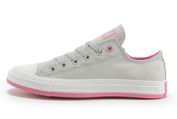 converse all star low grey pink canvas
