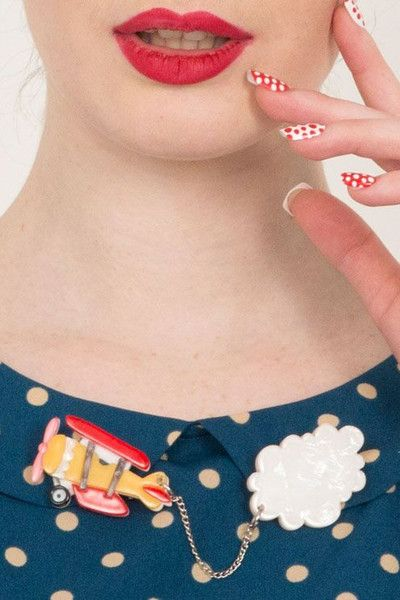 Erstwilder Captain Cumulus Cardigan Resin Brooch Pin