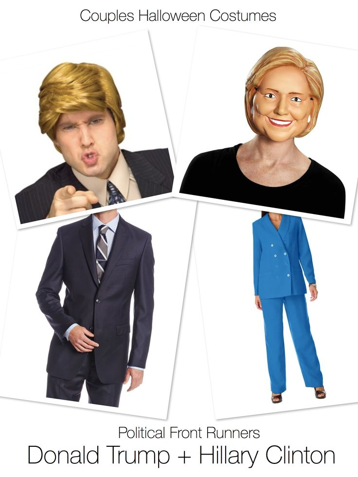 Couples Halloween Costumes Donald Trump & Hillary Clinton                                                                                                                                                                                 More