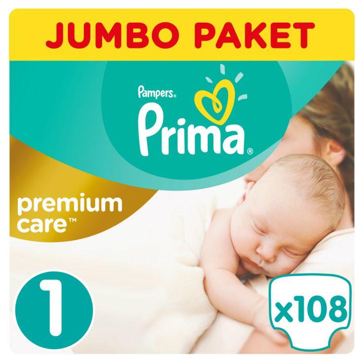 Prima Premium Care Bebek Bezi 1 Beden Yenidoğan Jumbo Paket 108 Adet