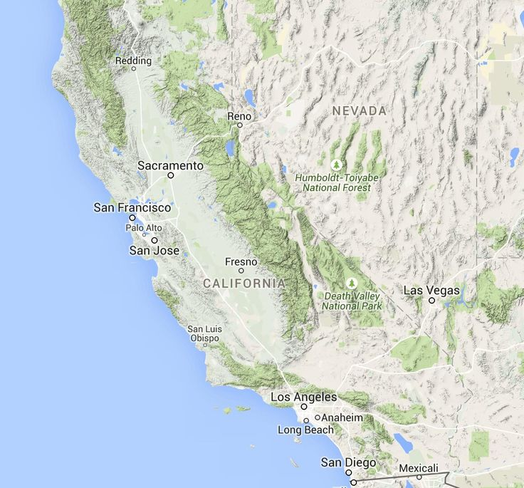 Image Result For California Coast Rv Camping Map
