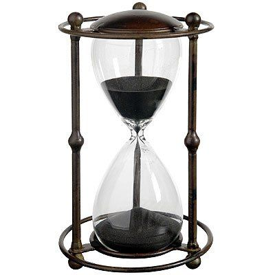 Amazon.com: 30 Min. Hourglass Sand Timer In Stand Black 9.5 inch: Home & Kitchen