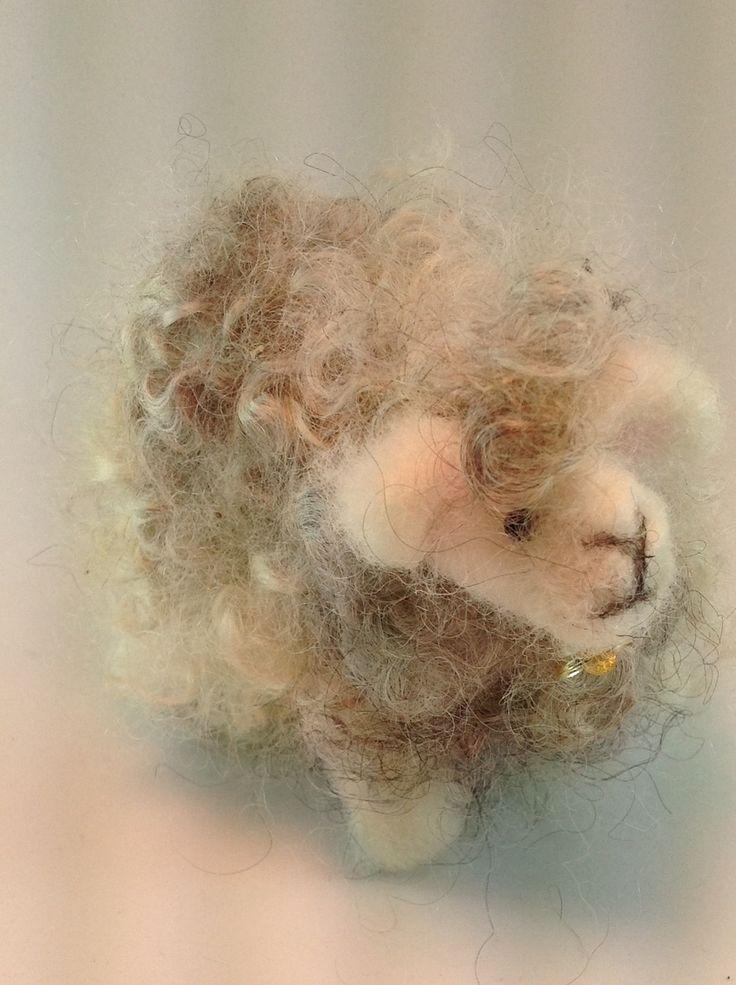 "Hand felted sheep ""Kris"", $18.0"