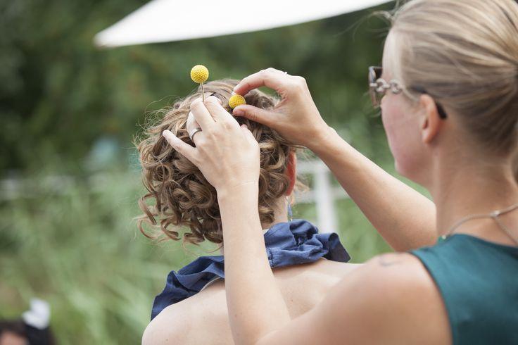 Hair decoration craspedia