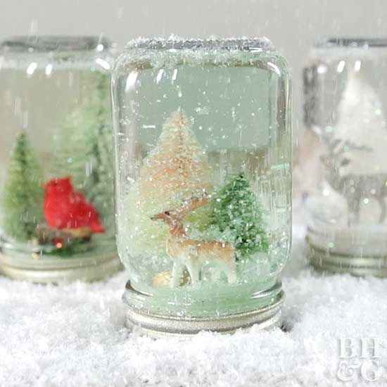 Put your extra Mason jars to good use this winter by creating a custom snow globe that includes your favorite seasonal elements.