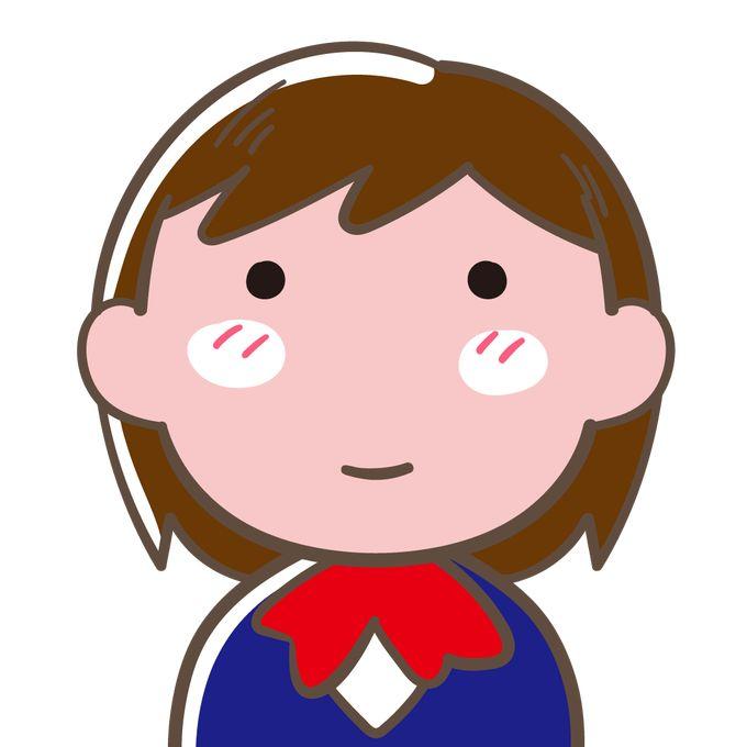 ブレザーを着た女子高生のアップ イラスト