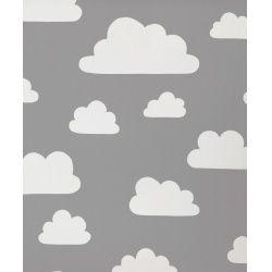 Verhot ompelupalvelusta: Pilvet -kangas, harmaa