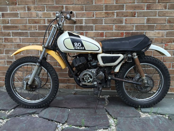 Vintage 1974 yamaha gt 80 mx mini dirt bike for parts for Yamaha mini dirt bikes