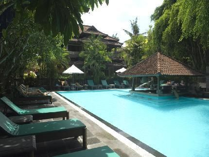 Puri Bambu Hotel Bali. Set within the scenic parkland of Jimbaran, Puri Bambu Hotel Bali provides comfortable accommodation and a full range of facilities, such as a currency exchange, laundry facilities and a coffee bar. It also offers a tour desk, massage services and an airport shuttle.  Babysitting/child services, a 24-hour reception and luggage storage are just some of the available services at Hotel Puri Bambu. Additional services include a dry cleaning service and a laundry service.