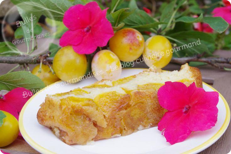 Gâteau aux mirabelles et rhum...moelleusement parfumé !!!