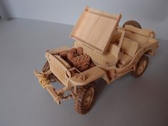 WILLYS MB JEEP wood model model wood scale 1/12 by KASSIANMODELS