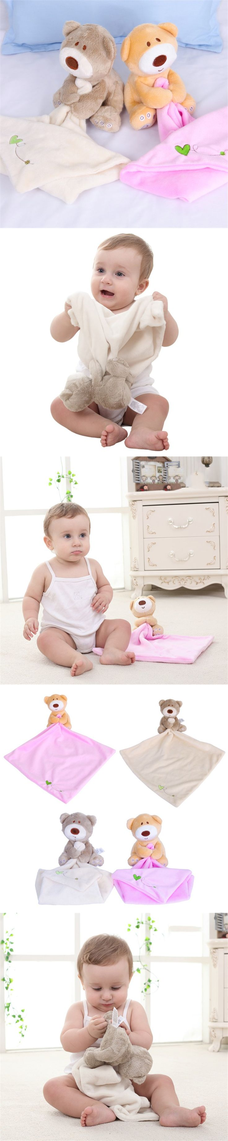 2016 HOT baby bear teething blankie teethers and toys Baby care baby handkerchief teether handkerchief lowest price clearance $4.99