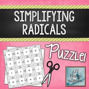 Best 25+ Simplifying radicals ideas on Pinterest | Algebra ...