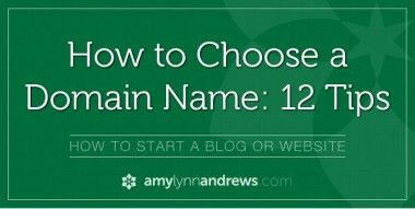 Tips on how to choose a domain name: Go with a .com, Keep it short and sweet, Easy to say and spell, No hyphens, Use keywords, Consider using your real name (or nickname), Make it expandable and avoid using life-stage-specific names, Avoid obscure terms by not using niche-specific terms, Be creative: if your name is taken try other alternatives that could work, Make sure the name is available on other social media, DON'T OVERTHINK IT :)