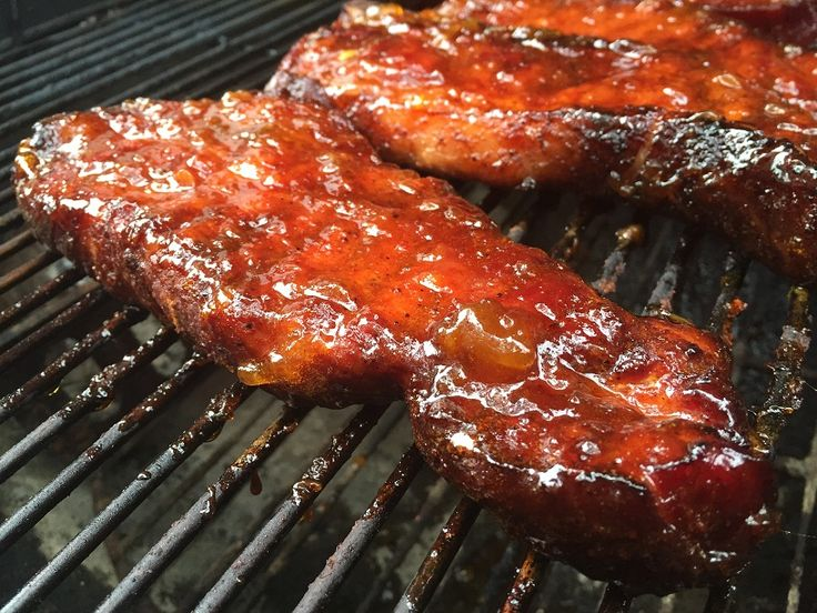 Smoked Country Style Rib with Peach Glaze