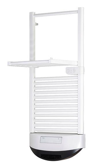 Radiador toallero eléctrico de fluido con termoconvector en color blanco, con una potencia de 1000 W. Gracias al movimiento de su panel superior, se convierte en un...