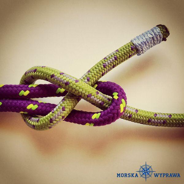 węzły żeglarskie - szotowy - służy do łączenia dwóch lin, mogą być różnej grubości najczęściej stosowany do wiązania szotów do rogu szotowego żagli