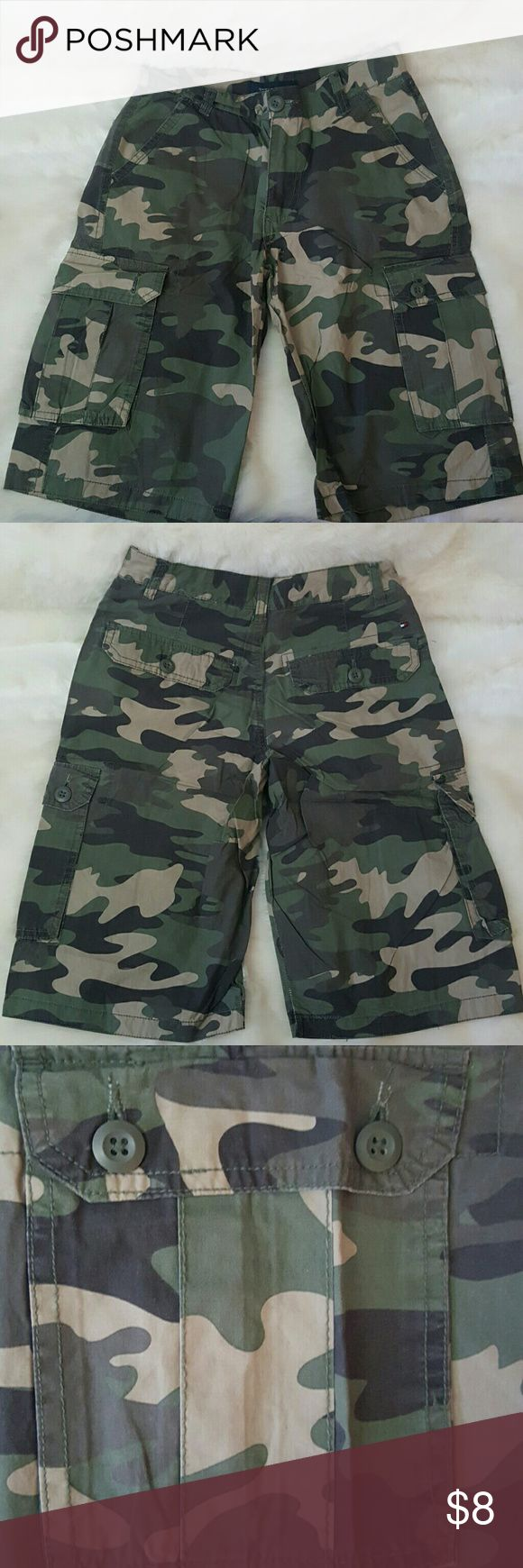 Tommy Hilflger boys camouflage shorts All my prices are negotiable!!! Boys cargo shorts Tommy Hilfiger Bottoms Shorts