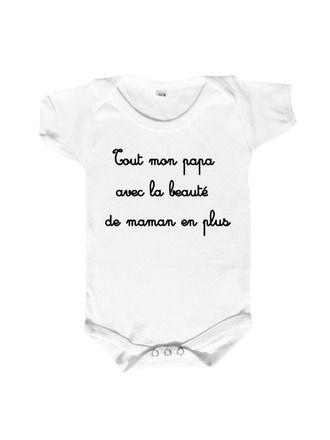 Body bébé humour autant pour les papa que pour les mamans,enfin presque... Ils sont dispo en plusieurs tailles 0/3 mois,6/12 mois et 18/23 mois,ainsi qu'en trois couleurs blanc,b - 11589375