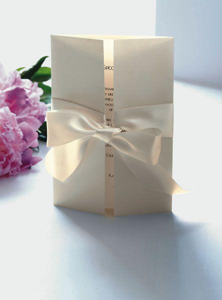 simple, classy wedding invite