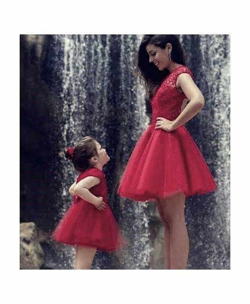 Cute daughter & mother pic...with same dresses